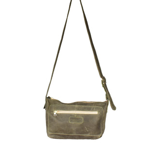 Charlotte cross body bag- Olive green - Mandara bags
