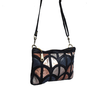 Gianna cut out clutch- black - Mandara bags