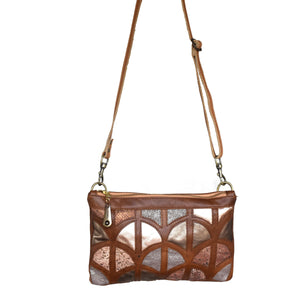 Gianna cut out clutch- brown - Mandara bags