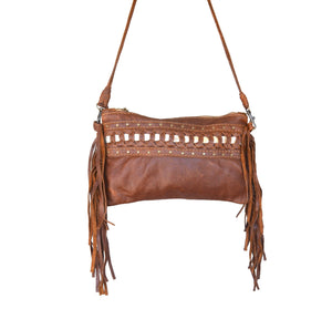 Selene leather tassel Clutch - Mandara bags