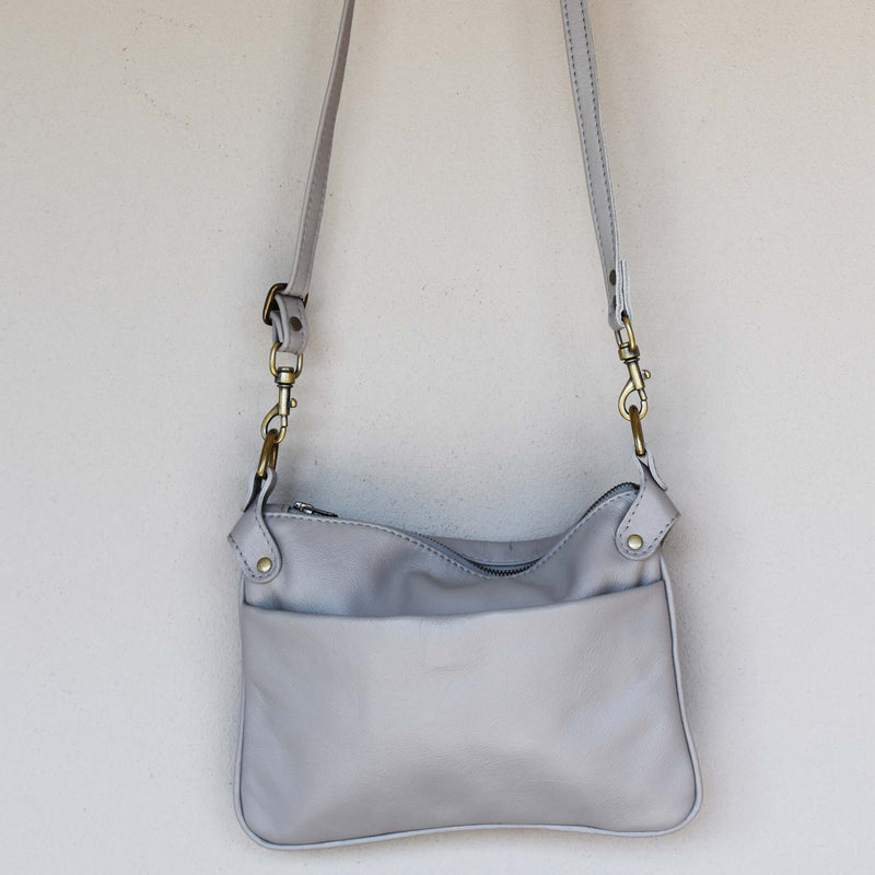 Ava cross body bag- Grey - Mandara bags