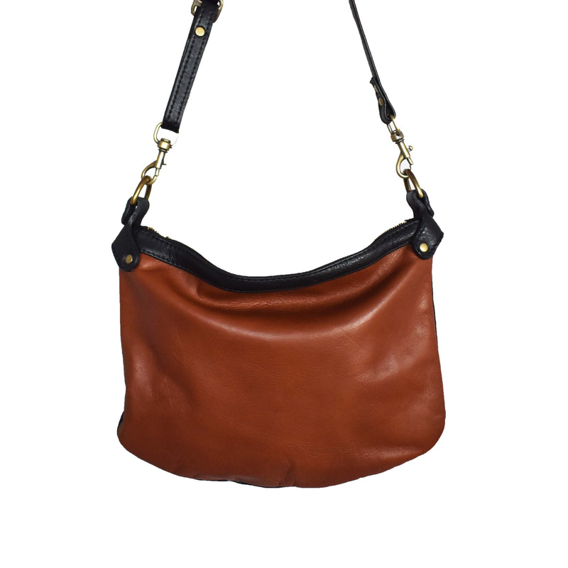 Bianca - two tone black and brown - Mandara bags