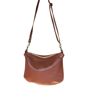 Bianca - Plain brown cross body bag (large) - Mandara bags