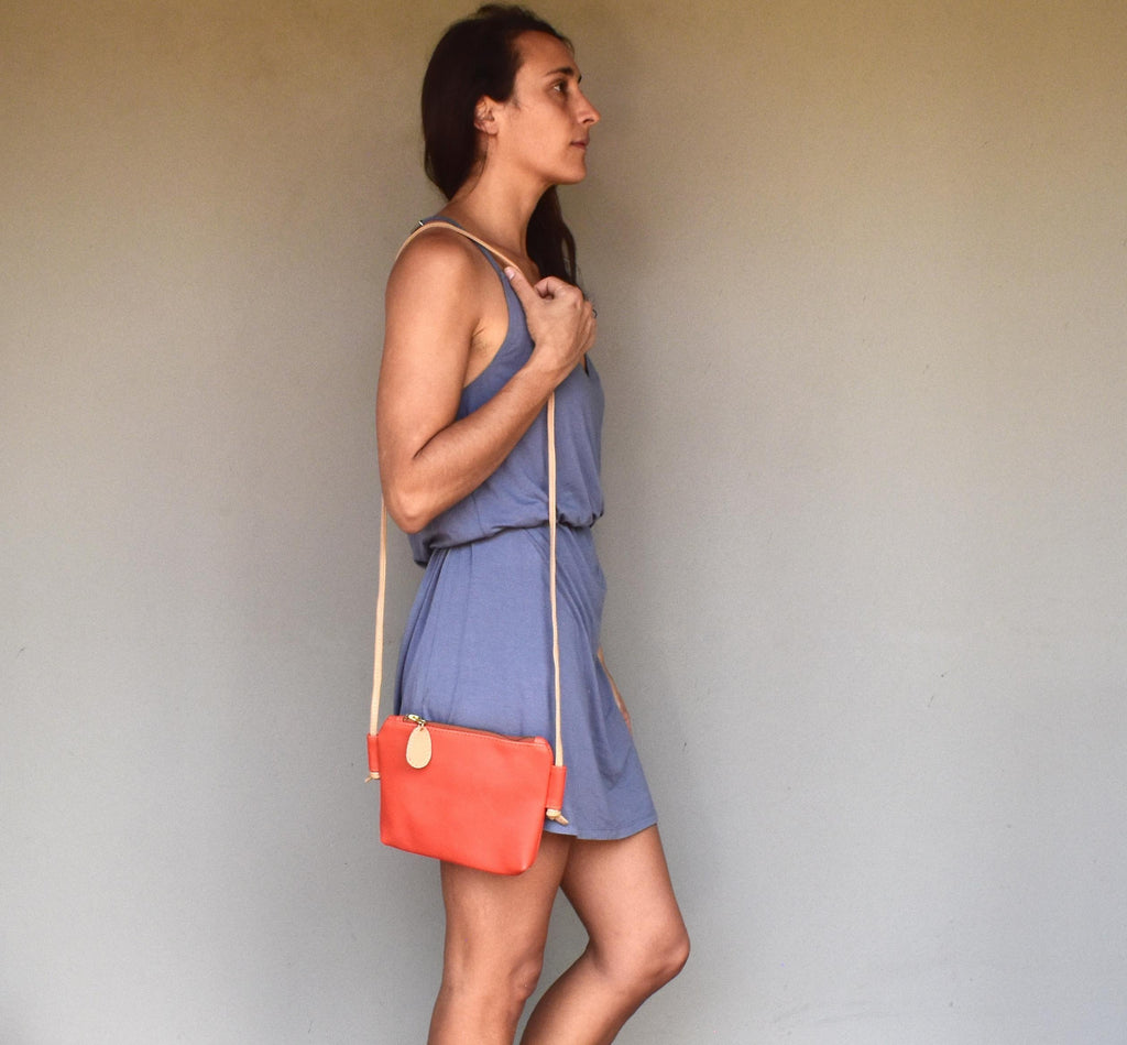 Chica cross body bag- coral - Mandara bags