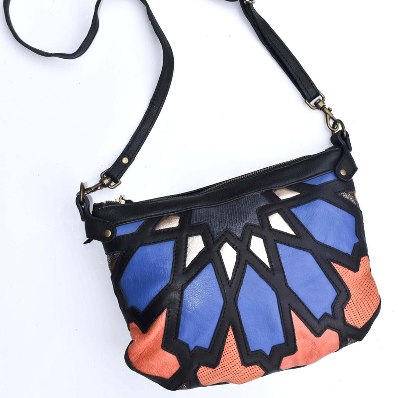 Large Amira cross body bag- colourful - Mandara bags