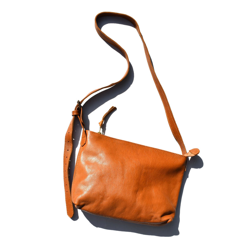 Large Charlotte cross body bag- Caramel - Mandara bags