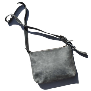Large Charlotte cross body bag- Diesel blue - Mandara bags