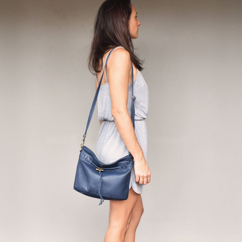 Rachel bucket bag- Navy - Mandara bags