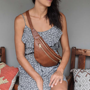 The Olympia leather beltbag - Mandara bags