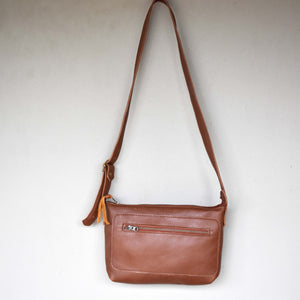 Charlotte cross body bag- Tan brown- Large - Mandara bags