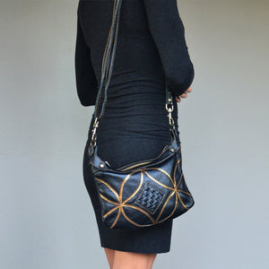 Athena cross body handbag- Black - Mandara bags