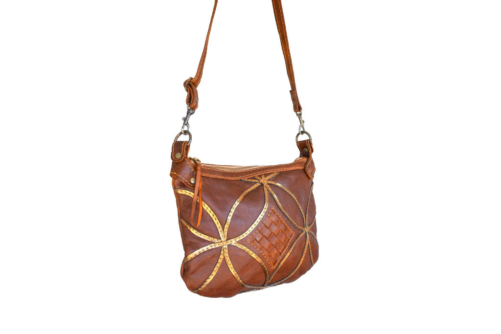 Athena cross body handbag- brown - Mandara bags