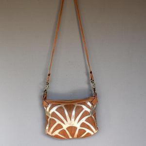 Atlantis cross-body bag- Camel - Mandara bags