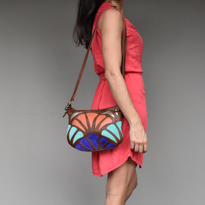 Atlantis cross-body bag- Peach - Mandara bags