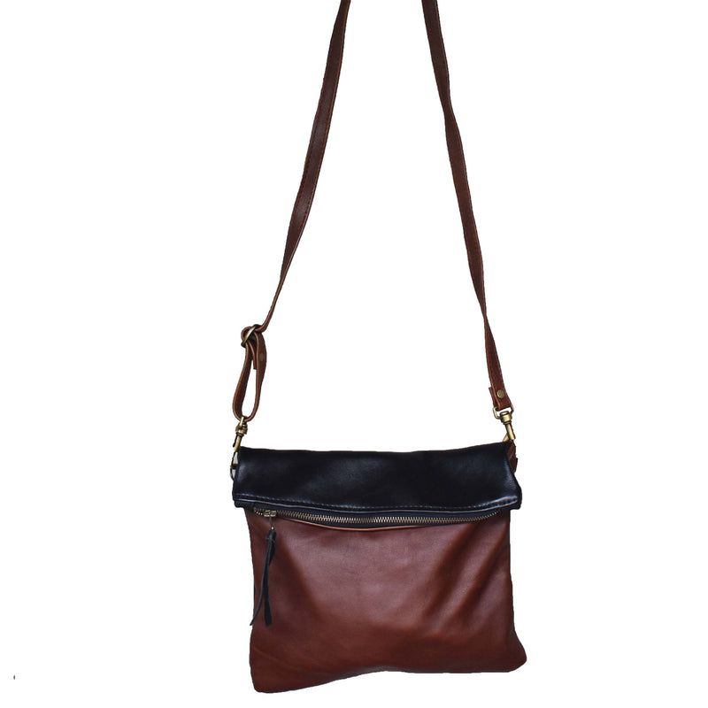 Copy of Two tone Olivia clutch /cross body handbag - Mandara bags