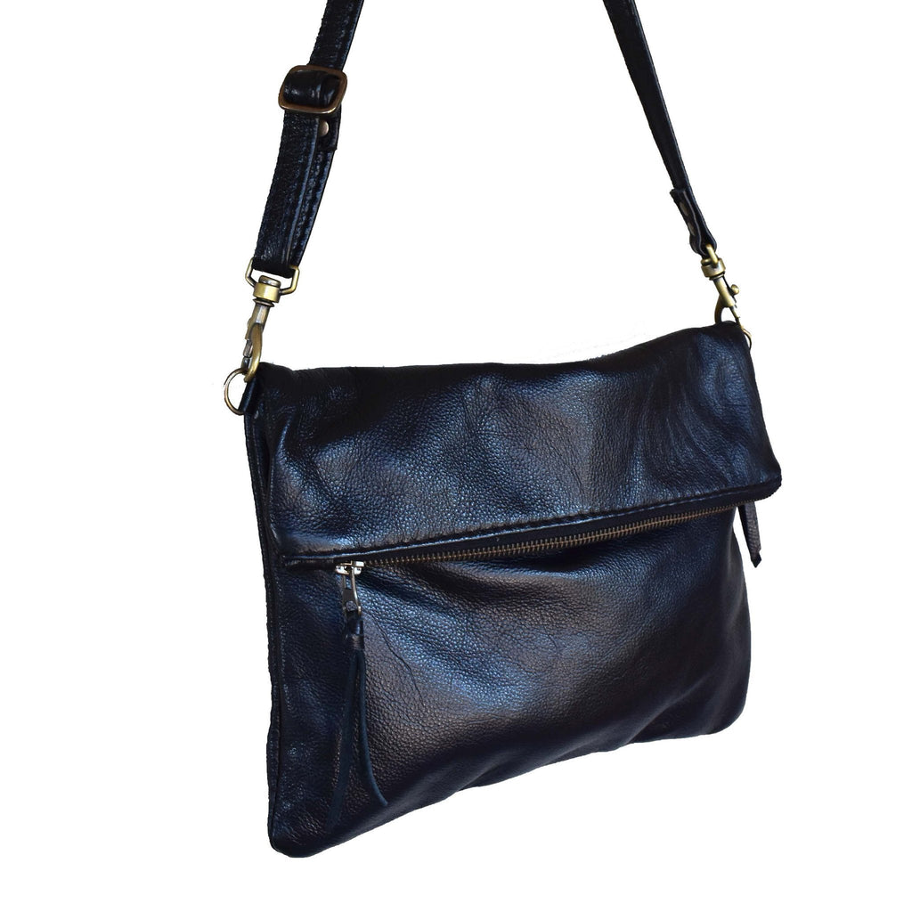 Black Olivia clutch /cross body handbag - Mandara bags