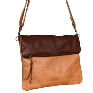 Two tone Olivia clutch /cross body handbag - Mandara bags