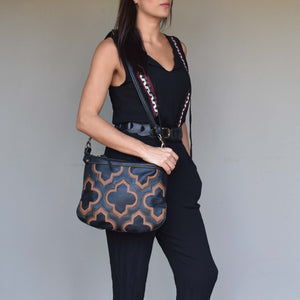 Mandara cross-body bag Casablanca cross-body bag- black and brown