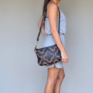 Casablanca cross-body bag- black and brown - Mandara bags