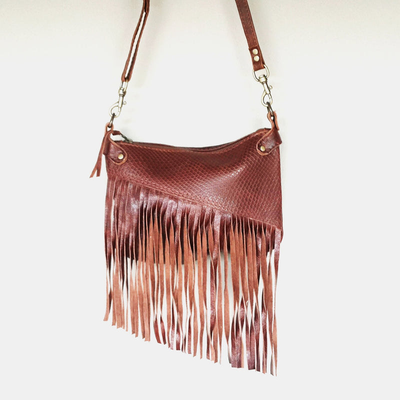 Gia tassel cross body hand bag- brown 002 - Mandara bags