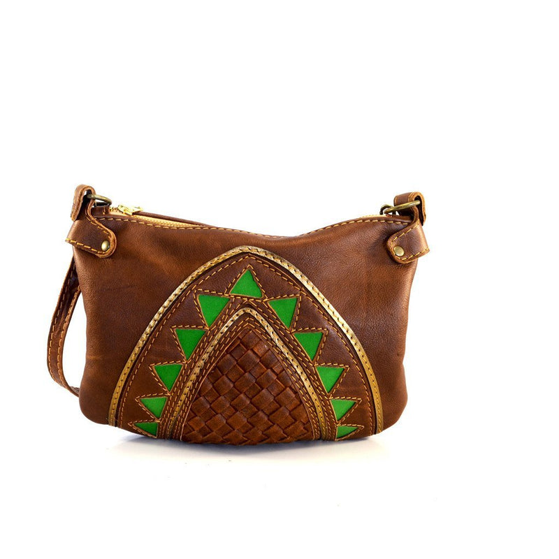 Green Cleopatra cross body handbag - Mandara bags