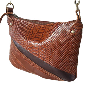 Kiera cross body handbag- Brown - Mandara bags