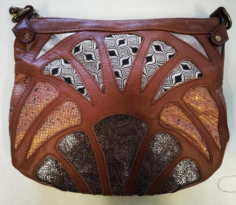 large Atlantis cross-body bag- Tan Shimmer - Mandara bags