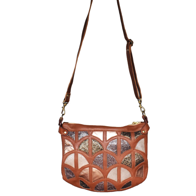 Large Monica cross-body bag- Desert - Mandara bags