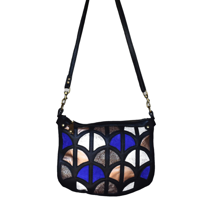 Large Monica cross-body bag- Midnight - Mandara bags