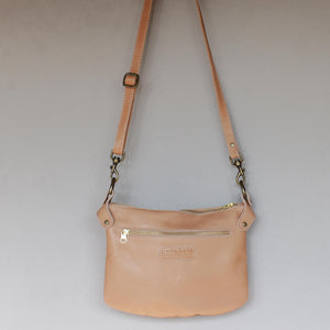 Latte Bianca cross body bag- medium - Mandara bags