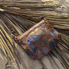 Monica cross-body bag- Tan brown and metallic leather - Mandara bags