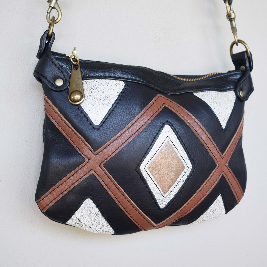 Nala cross-body handbag - black - Mandara bags