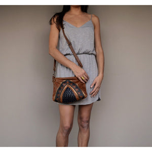 Copy of Nandi cross-body handbag- black and brown - Mandara bags
