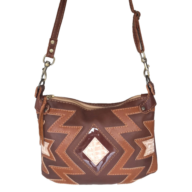 Nandi cross-body handbag - brown - Mandara bags