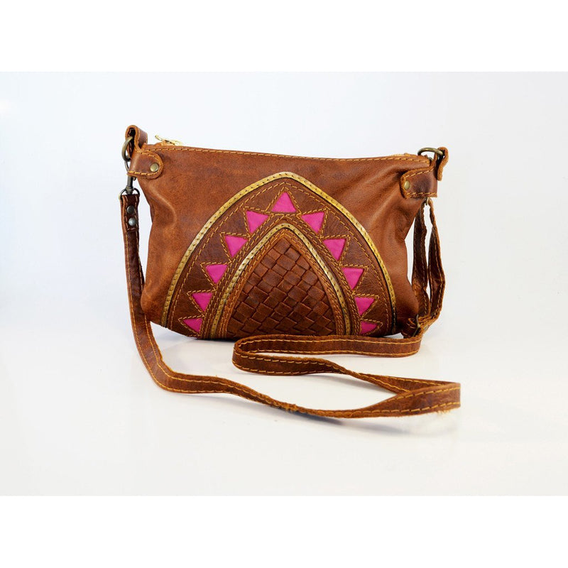 Pink Cleopatra cross body handbag - Mandara bags