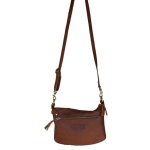 Plain cross-body handbag - Mandara bags