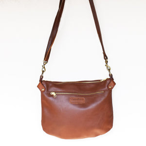Tan brown Bianca cross body bag- medium - Mandara bags