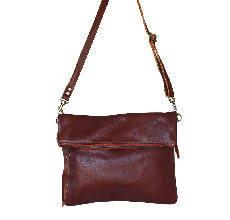Tan Olivia clutch /cross body handbag - Mandara bags