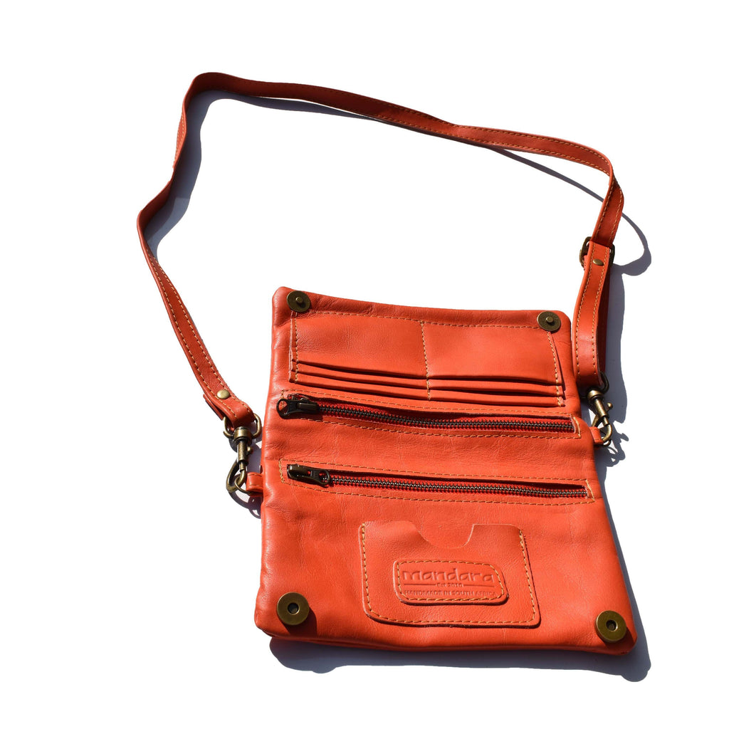 The Sadie wallet bag- Coral - Mandara bags