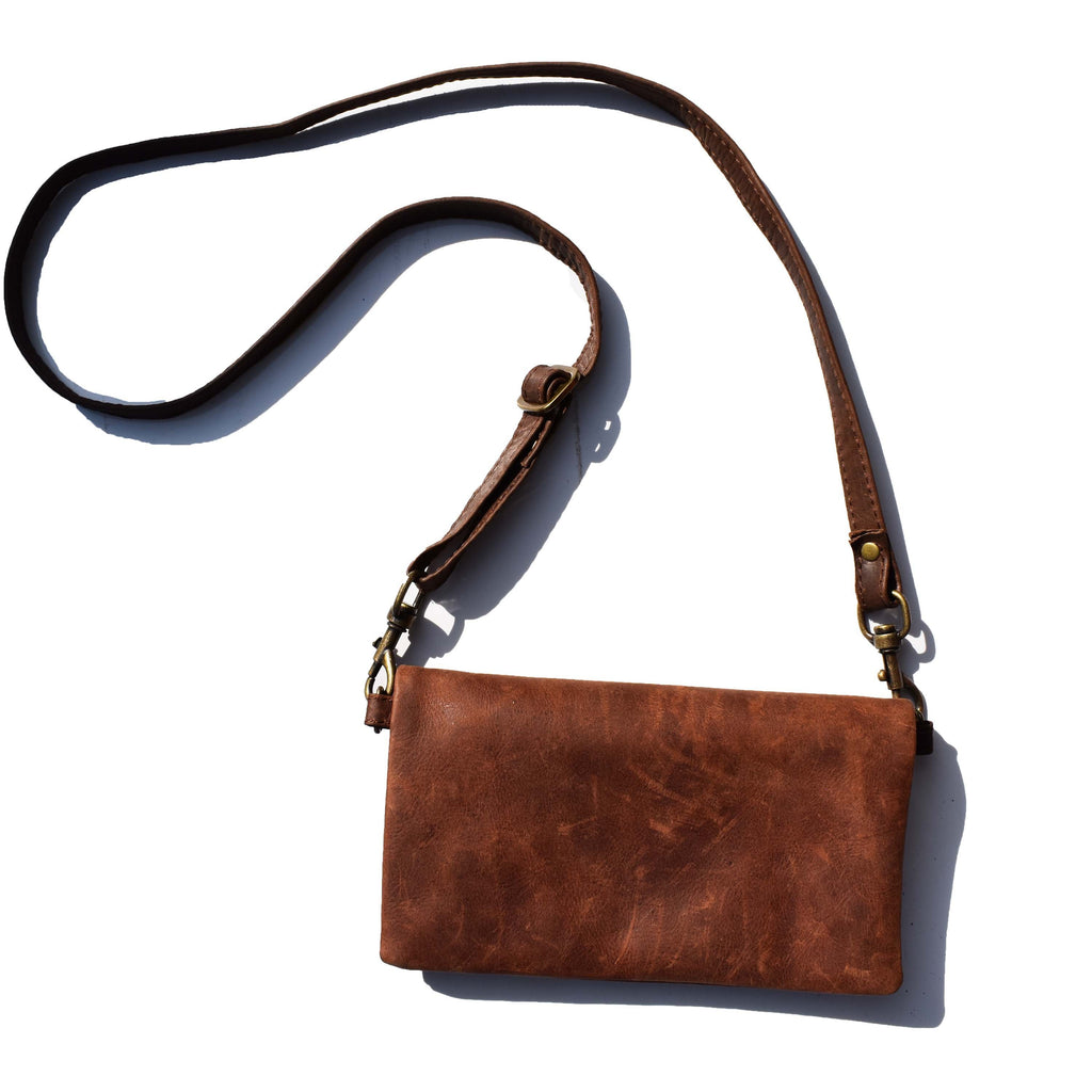 The Sadie wallet bag- Diesel brown - Mandara bags