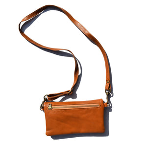 The Sadie wallet bag- caramel - Mandara bags