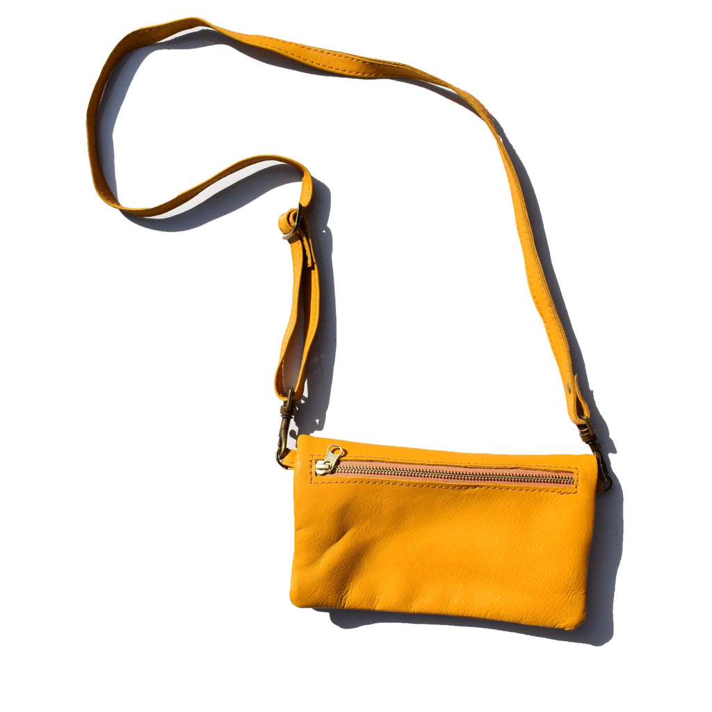The Sadie wallet bag-  Mustard - Mandara bags