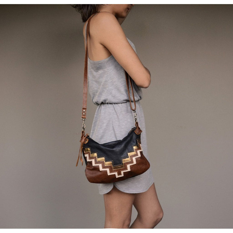 Zara geometric design cross body handbag - Mandara bags
