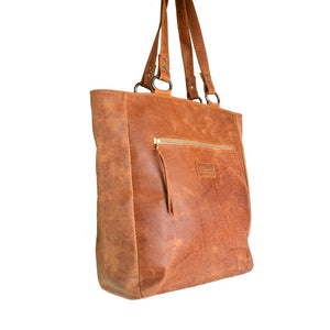 Black Jozi leather tote - Mandara bags