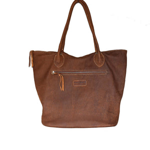 Brown Mottled Tulip tote - Mandara bags