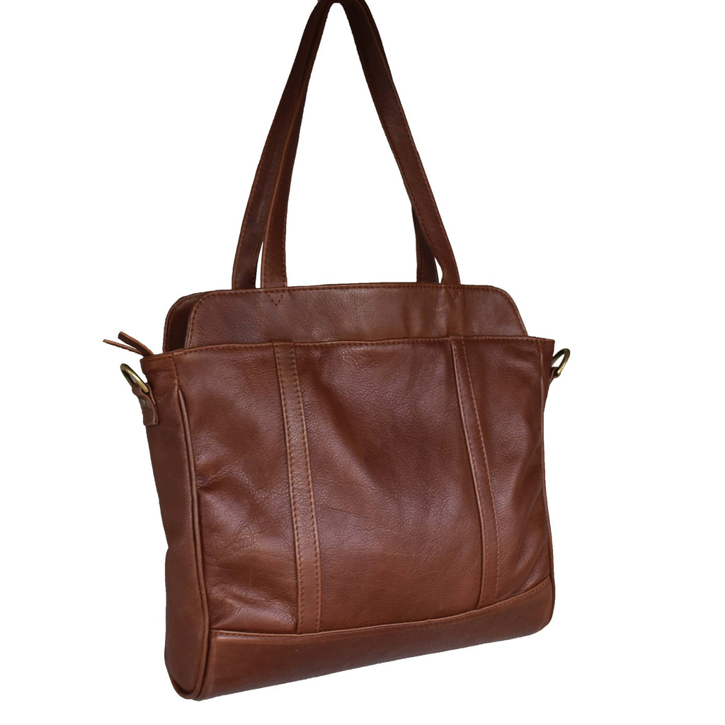 Luna business tote- Tan brown - Mandara bags