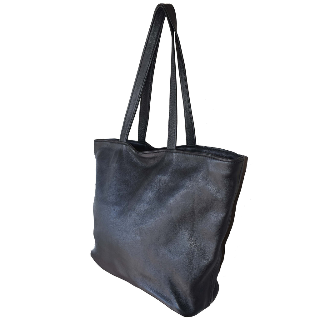 Black Camilla tote- medium - Mandara bags