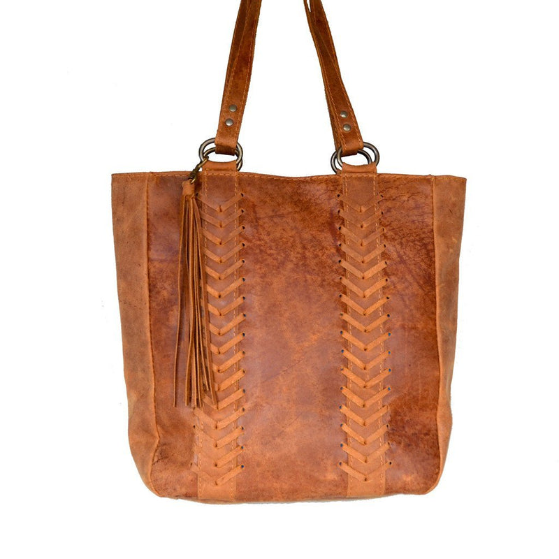 Jozi leather tote - Mandara bags