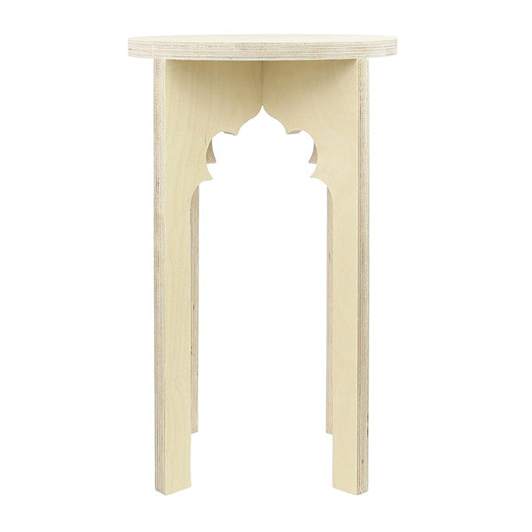 Pointed Cinquefoil Arch Stool