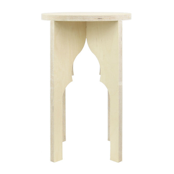 Pointed Trefoil Arch Stool